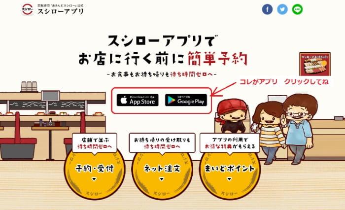 スシロー アプリ