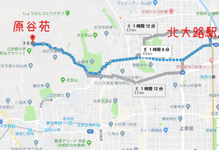 原谷苑 アクセス
