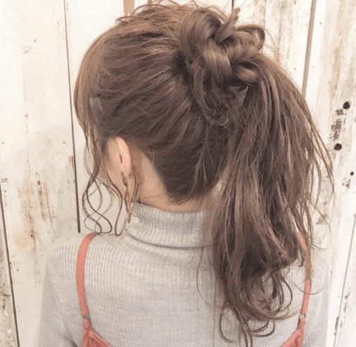 浴衣 髪型 ポニーテール