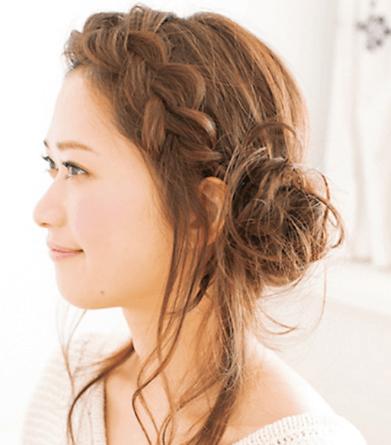 浴衣 髪型 前髪
